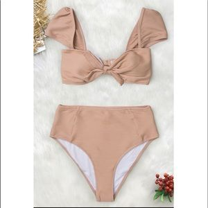 Other - Nude/Pink High Waist Bikini - New with Tags
